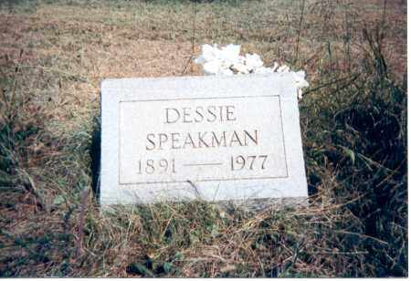 SPEAKMAN, DESSIE - Jackson County, Ohio | DESSIE SPEAKMAN - Ohio Gravestone Photos