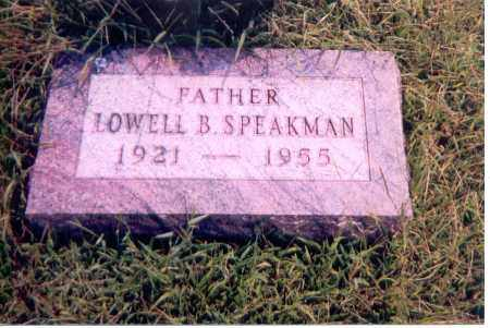 SPEAKMAN, LOWELL B. - Jackson County, Ohio | LOWELL B. SPEAKMAN - Ohio Gravestone Photos