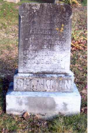 SPEAKMAN, UNREADABLE - Jackson County, Ohio | UNREADABLE SPEAKMAN - Ohio Gravestone Photos