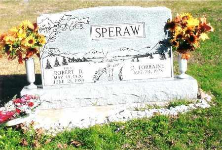 SPERAW, ROBERT DONALD - Jackson County, Ohio   ROBERT DONALD SPERAW - Ohio Gravestone Photos