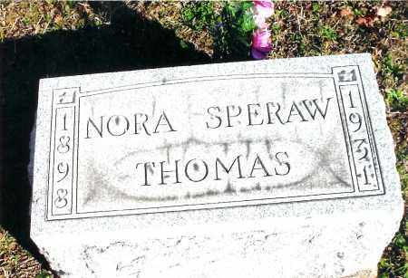 SPERAW THOMAS, NORA - Jackson County, Ohio | NORA SPERAW THOMAS - Ohio Gravestone Photos