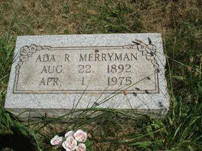 MERRYMAN, ADA R. - Jefferson County, Ohio | ADA R. MERRYMAN - Ohio Gravestone Photos