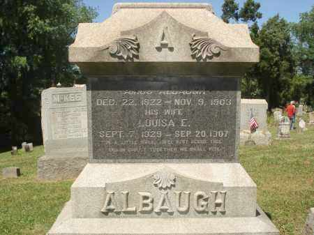 ALBAUGH, LOUISA E. - Jefferson County, Ohio | LOUISA E. ALBAUGH - Ohio Gravestone Photos