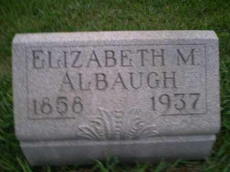 ALBAUGH, REBECCA ELIZABETH - Jefferson County, Ohio | REBECCA ELIZABETH ALBAUGH - Ohio Gravestone Photos