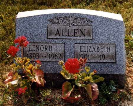 ALLEN, ELIZABETH - Jefferson County, Ohio | ELIZABETH ALLEN - Ohio Gravestone Photos