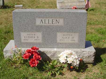 ALLEN, LUTHER BURTON - Jefferson County, Ohio | LUTHER BURTON ALLEN - Ohio Gravestone Photos