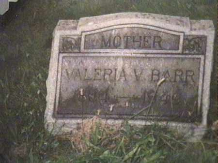 BARR, VALERIE VIENNA - Jefferson County, Ohio | VALERIE VIENNA BARR - Ohio Gravestone Photos