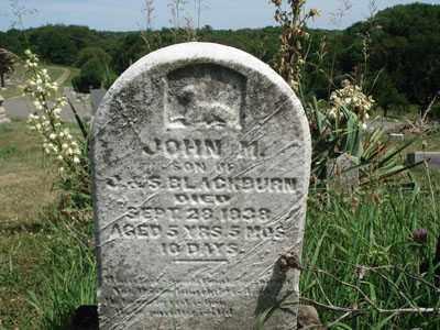 BLACKBURN, JOHN M. - Jefferson County, Ohio | JOHN M. BLACKBURN - Ohio Gravestone Photos