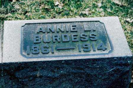 BURDESS, ANNIE - Jefferson County, Ohio | ANNIE BURDESS - Ohio Gravestone Photos
