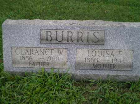 BURRIS, LOUISA F - Jefferson County, Ohio | LOUISA F BURRIS - Ohio Gravestone Photos