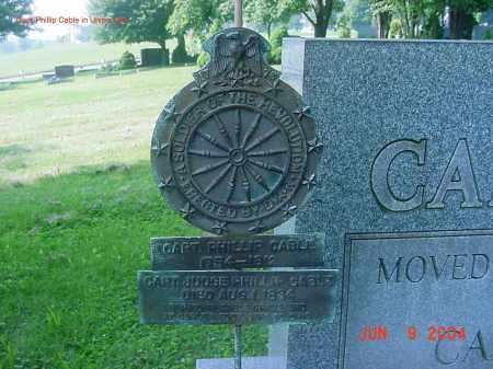 CABLE, CAPT PHILLIP - Jefferson County, Ohio | CAPT PHILLIP CABLE - Ohio Gravestone Photos