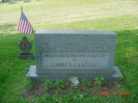 CABLE, JACOB - Jefferson County, Ohio | JACOB CABLE - Ohio Gravestone Photos