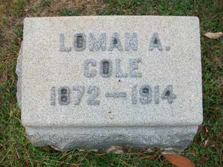 COLE, LOMAN A - Jefferson County, Ohio | LOMAN A COLE - Ohio Gravestone Photos