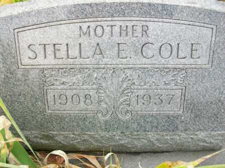 HILL COLE, STELLA E - Jefferson County, Ohio | STELLA E HILL COLE - Ohio Gravestone Photos