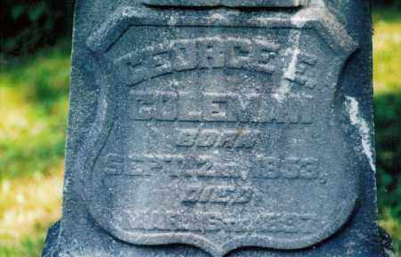 COLEMAN, GEORGE - Jefferson County, Ohio   GEORGE COLEMAN - Ohio Gravestone Photos