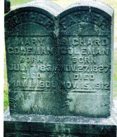 COLEMAN, MARY - Jefferson County, Ohio | MARY COLEMAN - Ohio Gravestone Photos