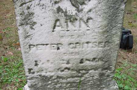 CRISTER, ANN - CLOSE VIEW - Jefferson County, Ohio | ANN - CLOSE VIEW CRISTER - Ohio Gravestone Photos