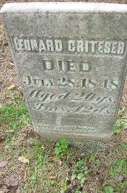 CRITESER, LEONARD - Jefferson County, Ohio | LEONARD CRITESER - Ohio Gravestone Photos