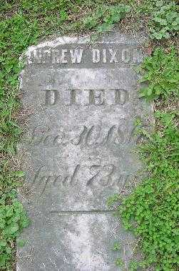 DIXON, ANDREW - Jefferson County, Ohio | ANDREW DIXON - Ohio Gravestone Photos