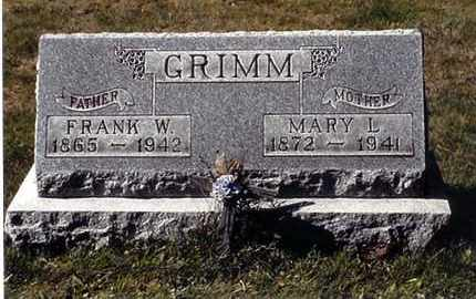 GRIMM, FRANK W - Jefferson County, Ohio | FRANK W GRIMM - Ohio Gravestone Photos