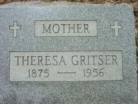 GRITSER, THERESA - Jefferson County, Ohio | THERESA GRITSER - Ohio Gravestone Photos