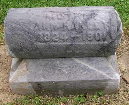 HANLEY, ANN - Jefferson County, Ohio | ANN HANLEY - Ohio Gravestone Photos
