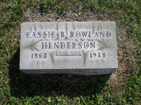HENDERSON, CASSIE B - Jefferson County, Ohio | CASSIE B HENDERSON - Ohio Gravestone Photos