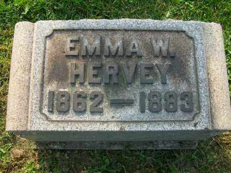 WELDAY HERVEY, EMMA - Jefferson County, Ohio | EMMA WELDAY HERVEY - Ohio Gravestone Photos