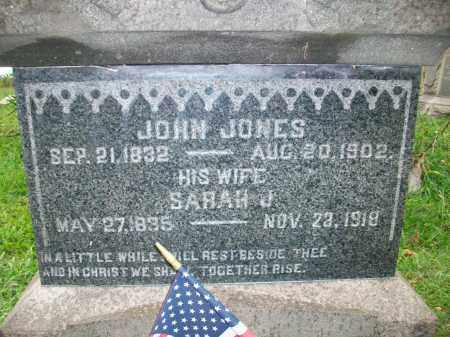 JONES, SARAH JANE - Jefferson County, Ohio | SARAH JANE JONES - Ohio Gravestone Photos