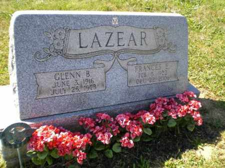 LAZEAR, GLENN BERT - Jefferson County, Ohio | GLENN BERT LAZEAR - Ohio Gravestone Photos