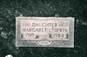 MARGARET L., IRWIN - Jefferson County, Ohio | IRWIN MARGARET L. - Ohio Gravestone Photos