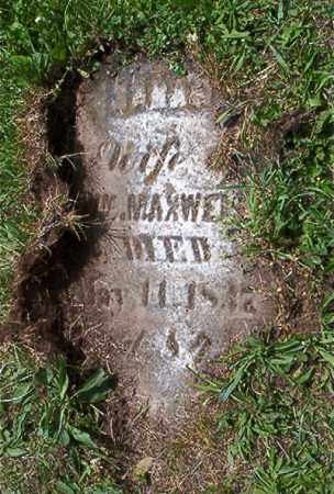 MAXWELL, SARAH - Jefferson County, Ohio | SARAH MAXWELL - Ohio Gravestone Photos