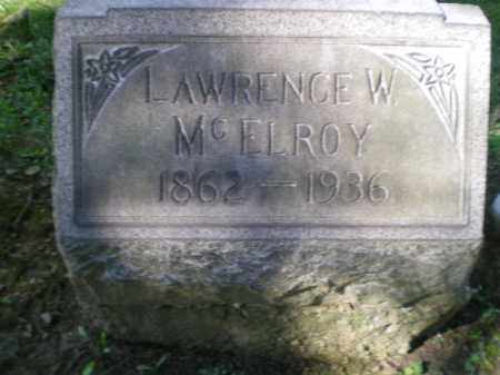 MCELROY, LAWRENCE W - Jefferson County, Ohio | LAWRENCE W MCELROY - Ohio Gravestone Photos