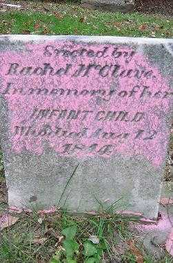 MC CLAVE, INFANT - Jefferson County, Ohio | INFANT MC CLAVE - Ohio Gravestone Photos