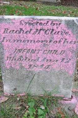 MC CLAVE, INFANT - Jefferson County, Ohio | INFANT MC CLAVE - Ohio Gravestone Photos