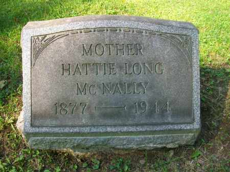 MCNALLY, HATTIE LONG - Jefferson County, Ohio | HATTIE LONG MCNALLY - Ohio Gravestone Photos