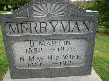 MERRYMAN, HANNAH MAY - Jefferson County, Ohio | HANNAH MAY MERRYMAN - Ohio Gravestone Photos
