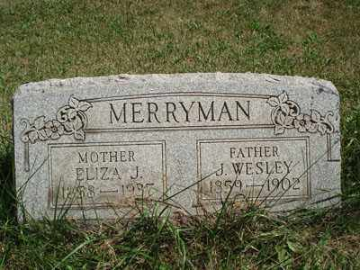 MERRYMAN, J. WESLEY - Jefferson County, Ohio | J. WESLEY MERRYMAN - Ohio Gravestone Photos