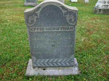 MERRYMAN, EFFIE - Jefferson County, Ohio | EFFIE MERRYMAN - Ohio Gravestone Photos