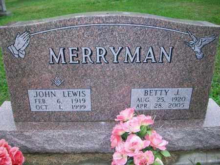 MERRYMAN, BETTY JEAN - Jefferson County, Ohio | BETTY JEAN MERRYMAN - Ohio Gravestone Photos