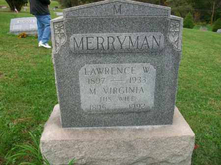 MERRYMAN, LAWRENCE W - Jefferson County, Ohio | LAWRENCE W MERRYMAN - Ohio Gravestone Photos