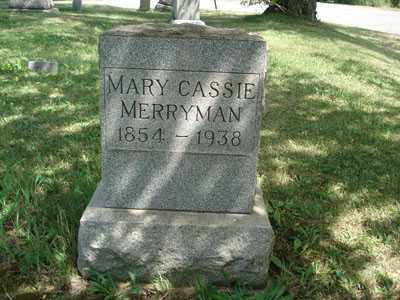 MERRYMAN, MARY CASSIE - Jefferson County, Ohio | MARY CASSIE MERRYMAN - Ohio Gravestone Photos