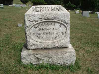 WILLEMEN MERRYMAN, MINNIE - Jefferson County, Ohio | MINNIE WILLEMEN MERRYMAN - Ohio Gravestone Photos