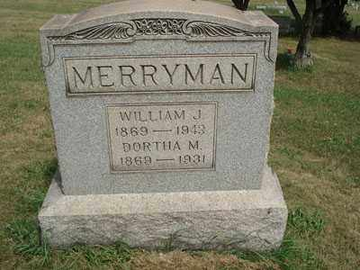 MERRYMAN, WILLIAM J. - Jefferson County, Ohio | WILLIAM J. MERRYMAN - Ohio Gravestone Photos
