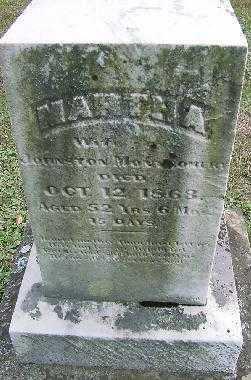 MONTGOMERY, MARTHA - Jefferson County, Ohio | MARTHA MONTGOMERY - Ohio Gravestone Photos