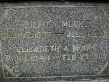 MOORE, ELIZABETH - Jefferson County, Ohio | ELIZABETH MOORE - Ohio Gravestone Photos