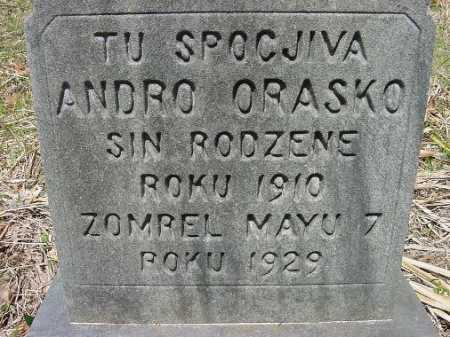ORASKO, ANDRO - Jefferson County, Ohio | ANDRO ORASKO - Ohio Gravestone Photos