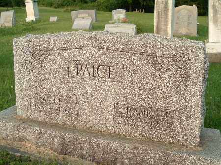 PAICE, ALICE INEZ - Jefferson County, Ohio | ALICE INEZ PAICE - Ohio Gravestone Photos