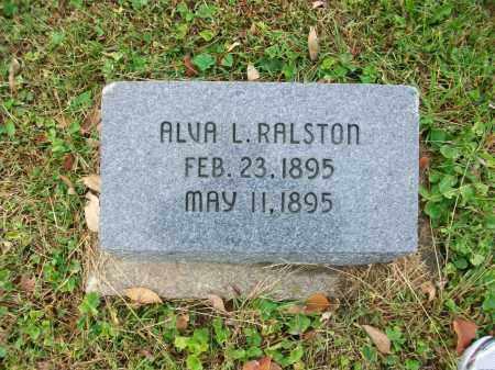 RALSTON, ALVA L - Jefferson County, Ohio | ALVA L RALSTON - Ohio Gravestone Photos