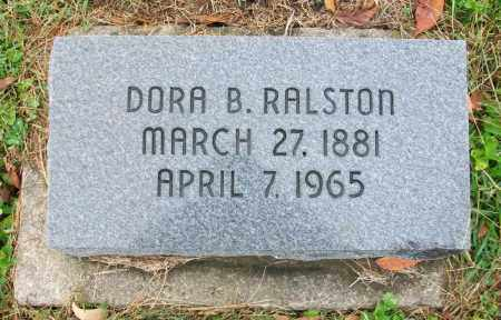 RALSTON, DORA B - Jefferson County, Ohio | DORA B RALSTON - Ohio Gravestone Photos